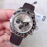 2020 U1 Herenhorloge 40mm Sapphire Glass Rubber Black Band 316L roestvrij staal 2813 Automatische Machine Mens Horloges