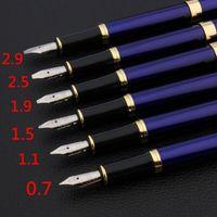 quality brand 388 parallel Fountain Pen blue golden Duckbill Gothic art body Flat Tip Office school supplies new