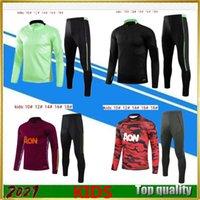 2020-21 Manchester costume d'entraînement enfants MARTIAL RASHFORD veste de football vêtements de sport foot jogging 20 21 POGBA United Soccer survêtement