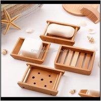 Platos platos hechos a mano caja de contenedores de madera natural de madera porta de jabón accesorios de baño ikwoa jr4l3