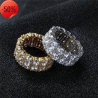 Bagues bijoux mode haute qualité gold argenté cercle plaqué hiphop grappe en gros de luxe luxe pleine haute classe zircon doigt lr003