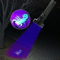9 21 51 68 100 128 LED UV Flashlight 395nm Torches ultraviolets Lampe Blacklight pour les taches d'urine pour animaux de compagnie Détecteur Checker