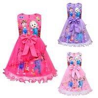 Children's sleeveless dress girls princess net yarn tutu skirt cartoon anime 80462