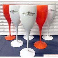 Favor Cups Acrylic Unbreakable Champagne Plastic Orange White Moet Chandon Glass Ice Imperial Wine Glasses Goblet Pospv