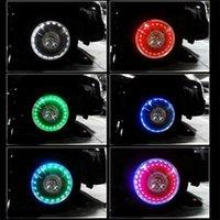 Solar LED TIRE COP Lampe de voiture Vélos Valves de roue Vannes de la roue Décor Caps Casquettes Air Air I2O0 Interiorexternal Lights