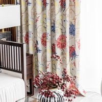 Curtain & Drapes 2021 Modern And Simple Polyester-cotton Printing Blackout Window Curtains For Living Dining Room Bedroom