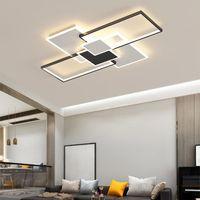 Moderna Semplicità LED Lampada da soffitto Personalizzazione Casa Black Black Bianco Box Combinazione Combinazione Design Camera da letto Soggiorno Studio Studio Indoor Ligh Lights
