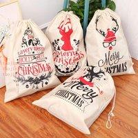 5 STYLES Christmas Gift Bags 2018 new Christmas Bag Drawstring Bag With Reindeers Santa Claus Sack Bags for Santa Sack kid bag DH0242
