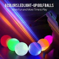 10 шт. / Лот светодиодные ночные мячи для гольфа светящиеся светлые светлые настенные многоразовые