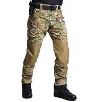 Pantaloncini da uomo di modo Pantaloni da arrampicata Capris Tactical Impermeabile Impermeabile Camouflage Camouflage multi-tasca Allenamento Multi-Pocket ARMY Pantaloni Dimensioni S-3XL