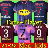 PSG Camiseta de fútbol 20 21 paris saint germain camisetas 2021 2022 MBAPPE NEYMAR JR ICARDI hombres + kit de niños maillot de foot 4th de la soccer jerseys chandal
