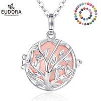 Eudora 20mm Moda Kristal Ağacı Kafes Harmony Topu Chile Çan Kolye Melek Arayan Bola Kolye Bebek Gebelik Takı için K168