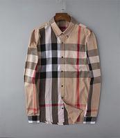 2021 مصمم فاخر أزياء رجالية قمصان طويلة الأكمام الأعمال عارضة العلامة التجارية الربيع سليم قميص M-4XL # 10