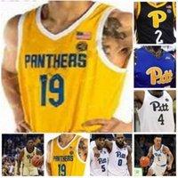 NCAA College Pitt Panthers Baloncesto Jersey 24 Ryan Murphy 4 Jared Wilson-Frame 13 Steven Adams 3 Malik Ellison 11 Sidy N'Dir Custom Steinsted
