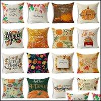 Bedding Supplies Textiles & Garden48 Styles Happy Thanksgiving Day Pillow Case Fall Decor Linen Give Thanks Sofa Throw Home Car Cushion Ers