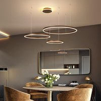 Pendant Lamps Ring Aluminum Acrylic LED Chandelier Living Room Dining Bedroom Study Commercial & Office Lighting