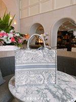 2021 Novo Bordado 3D Tigre Padrão Grande Capacidade 41.5cm Luxury Big Big Shop Compras Bolsa Handbag Handmade dupla flor flor