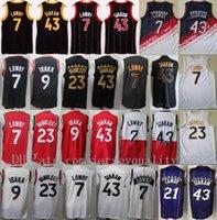 Yeni Basketbol Forması Pascal Siakam 43 Fred Vanvleet 23 Kyle Lowry 7 Serge Ibaka 9 Marcus Camby 21 Edition Kazanılan Şehir Vintage En Kaliteli