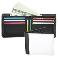 Creative DIY Sublimation bag Wallet for Women and men Blank Leather Purse Business Card Case Gift LD61502