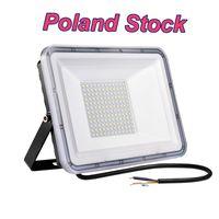 100W LED Inundação Luzes Ao Ar Livre Holofotes de Segurança Brilhantes Fora da Lâmpada IP66 Impermeável Impermeável Branco Refrigerante Luminárias Elétricas Iluminação