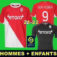 2019 Top Qualität AS Monaco FALCAO J. MOUTINHO Rot Fußball Jerseys LEMAR JOVETIC GOLOVIN 2018 19 maillot de fuß Flocage JORGE Fußball Shirt