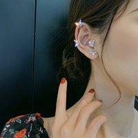 ins 큰 여자 보석 패션 우아한 크리스탈 나비 클립 귀걸이 피어싱 귀뼈 버클 선물 A6475