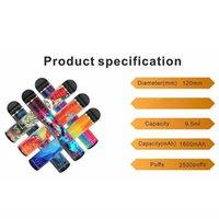 100% Оригинал EPE UNIK PLUS Одноразовый Vape 2500Установок 1600 мАч Батарея 10 Цветов Предварительно заполненные 9,5 мл Pods E Cigarettes Vaporizers