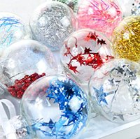 Decorazioni di Natale 6cmpet in plastica alta trasparente in plastica di Natale festa partito creativo cavità a sospensione palle ornamenti feste forniture fwd9189
