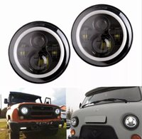 7-дюймовые автомобильные светодиодные фары для джип JK LADA 4x4 DRL Halo Front Headlamp дневные бегущие огни