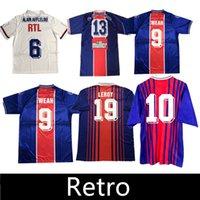 Retro Anelka Okocha Weah Classic Soccer Jersey 01 02 03 06 07 90 91 92 93 95 96 Ibrahimovic Ronaldinho Camisa de futebol