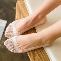 Moda Silicona Lace Boat Socks Summer Style Women Cut Cut No Show Socks Invisible Zapato Liner Lloradores Calcetines Mujer1