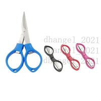 Portable Foldable Fishing Scissors Small Scissors Fishing Line Cutter Tools Outdoor Travel Collapsible Student Scissors CT0032
