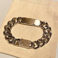 Bracelets de chaîne en acier inoxydable 316 pour hommes Femmes sans nickel-sans-nickergenic Durable Urban Wear Bracelet Hip Hop Link Bracelet