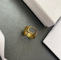 European and American retro letter ring brass opening adjustable fashion accessories female high quality fast delivery