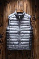 Kış Kolsuz Yelek Aşağı Ceket erkek Yelek Moda Standı Yaka Işık Bother Ceket Yelekler