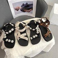 Sandals Gladiator For Women Hook & Loop Summer Beach Sport Sandal Casual Shoes Anti-slip Slippers Girls Female