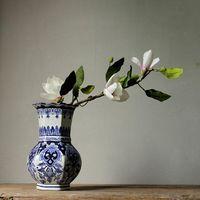 화병 세라믹 꽃병, Jingdezhen 중국어 손으로 그린 파란색과 흰색 도자기 병 홈 거실 빌라, 장식 decoratio
