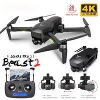 SG906 برو 2 بدون طيار GPS 3-Axis Gimbal مع 4K 5G Wifi Dual Camera Professional ESC 50X Zoom فرش كوادكوبتر RC بدون طيار
