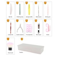 Nail Art Kits 13Pcs Tool Kit Clippers, Cuticle Pusher, File And Buffer Manicure Supplies Set With Toolbox Accessories
