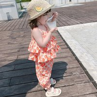 Clothing Sets Toddler Clothes Set Girls Sleeveless Camisole+Elastic Waist Pants Summer Children 2Pcs Casual Suits Outfits 18M-6Y