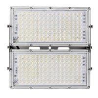 투광 조명 Ultrathin LED 모듈 홍수 빛 100 / 200W IP65 110V / 220V 스포트 라이트 반사경 야외 정원 램프 경기장 차고