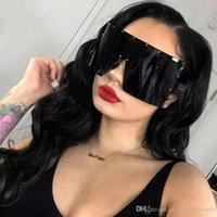 الاتجاه النظارات الشمسية المتضخم النساء النظارات الشمسية من قطعة واحدة يندبروف نظارات مرآة نظارات الشمس UV400