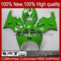 Bodys Kit för Kawasaki Ninja ZX-7R ZX750 ZX 7R 96 97 98 99 00 01 02 03 Kroppsarbeten 28HC.61 ZX-750 ZX 7 R ZX 750 ZX7R Grön Alla glansiga 1996 1997 1998 1999 2000 2001 2002 2003 Fairings