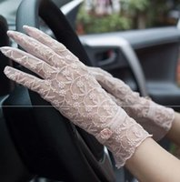 elegant bride wedding Gloves Lace and summer spring lace edge women thin mesh cocktail party spring and autumn women's multicolor