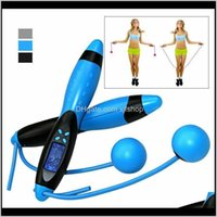 Ropes Equipments Supplies Sports & Outdoors Drop Delivery 2021 Digital Lcd Jump Jumping Skipping Rope Calorie Counter Timer Gym Fitness Home