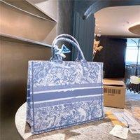 Bordado de grande capacidade Bolsa de compras Mulheres Luxurys Designers Sacos 2021 Multi-Color Padrão Bolsas De Bolsa Personalizado Bolsa Tote All-Match Ombro Carteiras
