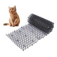 고양이 캐리어, 상자 가든 가든 스카트 매트 안티 고양이 개 방충제 매트 가시 스트립 고양이를 유지 안전 플라스틱 스파이크 가시 네트워크 애완 동물