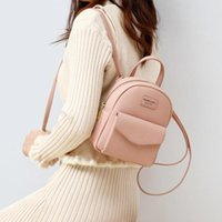 Mini Backpack Women High quality Leather Strap Crossbody Shoulder Cute Small Backpacks For Teen Girls Pink Bagpacks