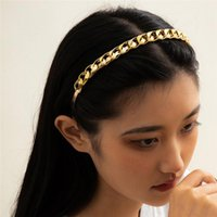Einfache gold twist cain stirnbänder mode hohl legierung haar bands für frauen waschen scrunchies schmuck zubehör großhandel