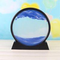 Ampulheta 3D Natural Paisagem Fluindo Areia Imagem Movendo Grão QuickSand Painting Sala de estar Dropship #yg Novidade Itens